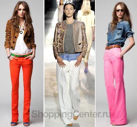 С чем сочитаются оранжевые джинсы