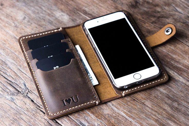 Personalized Mens wallet phone case groomsmen gift leather wallet Dad boyfriend gift husband gift father gift iPhone 6 case iPhone 6s case(Etsy のJooJoobsより) https://www.etsy.com/jp/listing/207592018/personalized-mens-wallet-phone-case