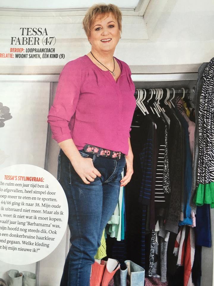 STOER: 18 kilo afvallen en dan Fred van Leer om styling advies vragen.... :-)