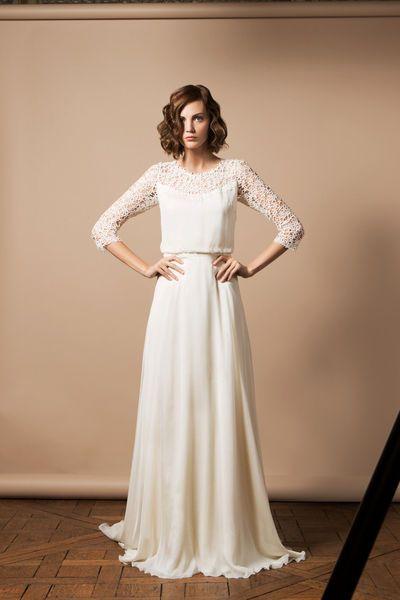 Robe de mariée Anguerran, Delphine Manivet - EN IMAGES. Dix robes de mariée de la collection 2014 Delphine Manivet - L'EXPRESS