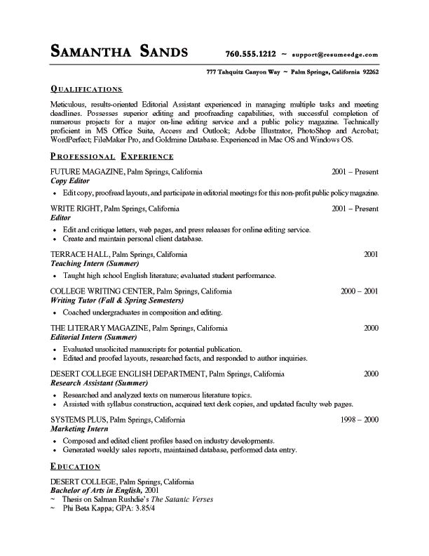 resume examples free sample resume template sample resume