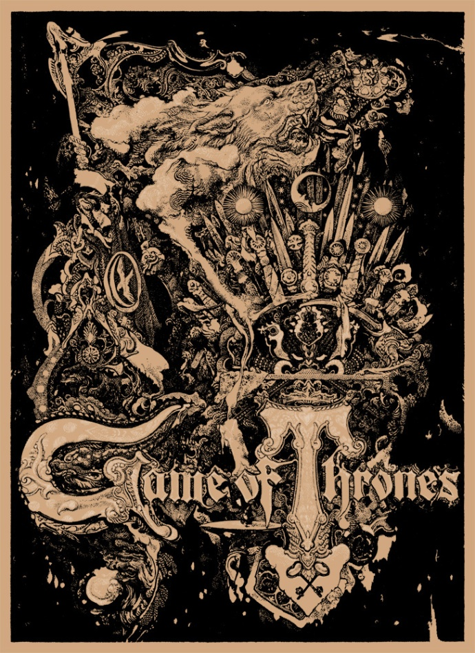 Vania Zouravliov's Game of Thrones screen print is one of 15 new posters being released by Mondo during Comic-Con International.