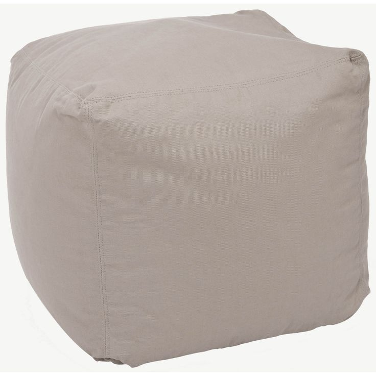 Add a retro look to any room with this square poof, beige bean bag. With a comfortable cotton cover, this poof bag will be great for movie-watching, book-reading or simply straight relaxing.
