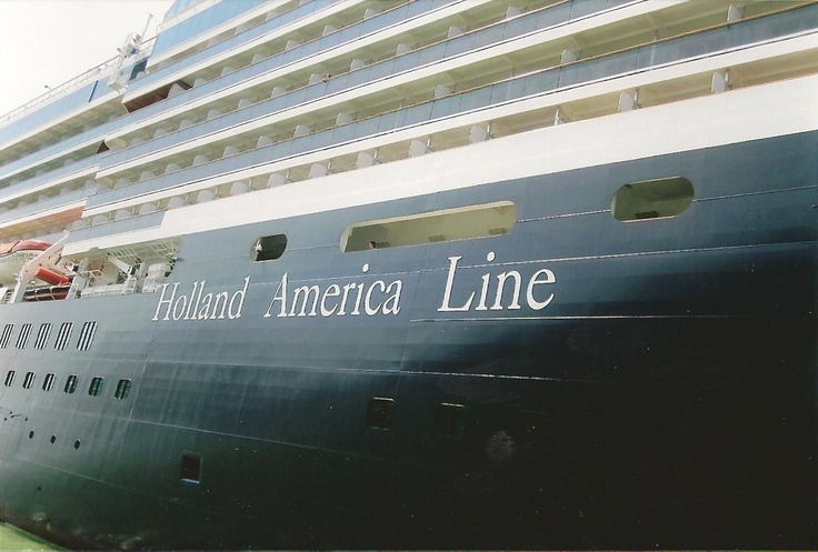 Our cruise ship - a very elegant cruiseline.