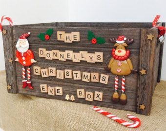 Personalised Christmas Eve Box Crate by TimidTigerDesign on Etsy