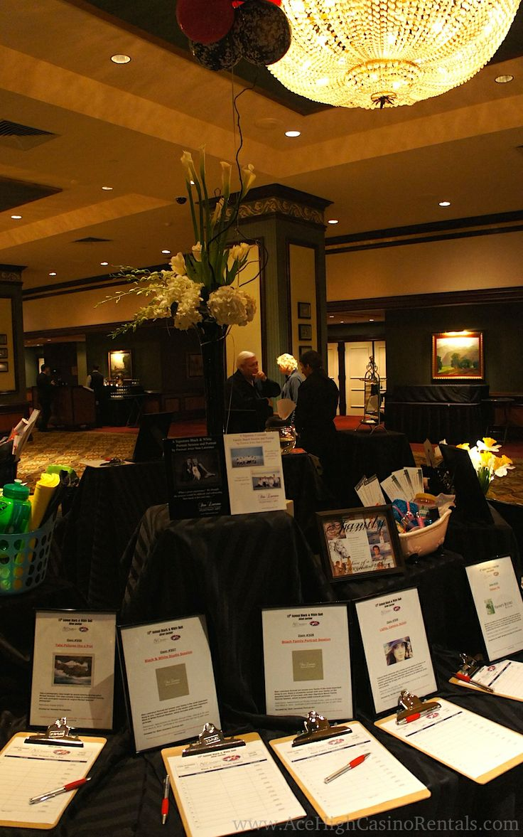 silent auction table  great to do on rounds in you have
