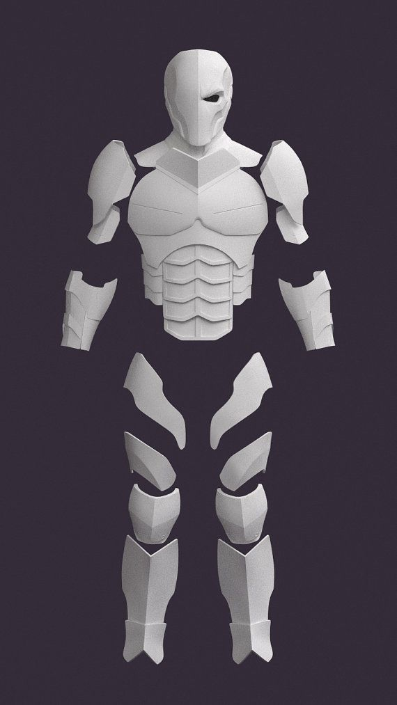 Deathstroke pepakura patterns  Support me by CassiusProps on Etsy