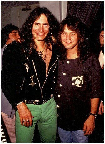Very rare photo of Steve Vai & Eddie Van Halen together.