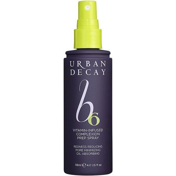 Urban Decay B6 Vitamin-Infused Complexion Prep Spray 4 oz (118 ml) (£26) ❤ liked…