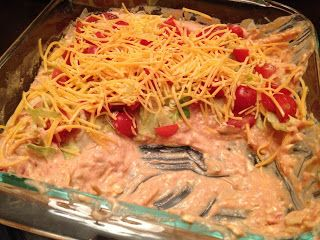 Taco Dip - made this for a picnic and it was gone in less than 5 minutes!! Yummy!