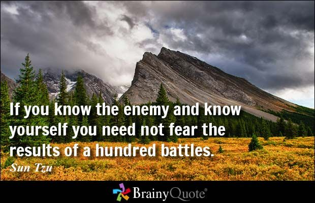 If you know the enemy and know yourself you need not fear the results of a hundred battles. - Sun Tzu #ArmedForcesDay