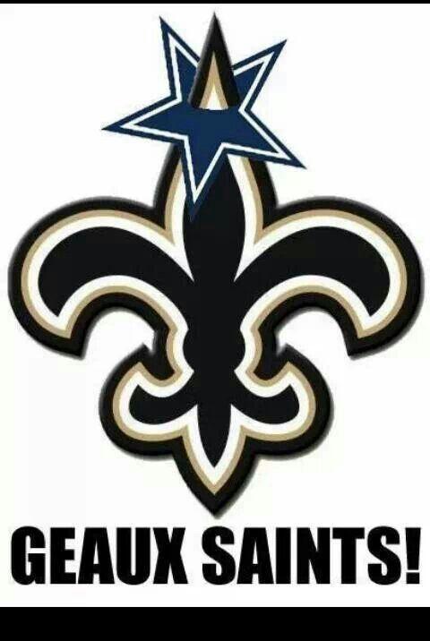 Saints Beat The Cowboys logo-Geaux Saints