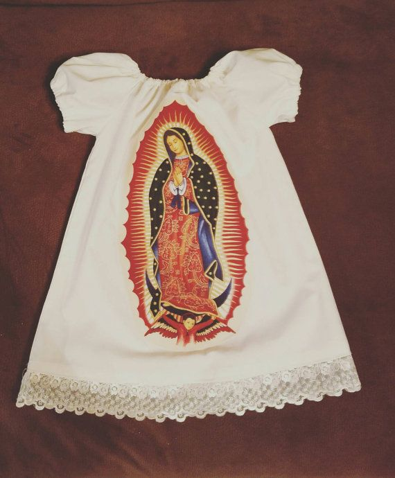 Check out this item in my Etsy shop https://www.etsy.com/listing/488521277/virgin-mary-dress-virgen-de-guadalupe