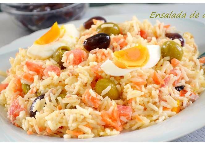 Ensalada de arroz con mahonesa
