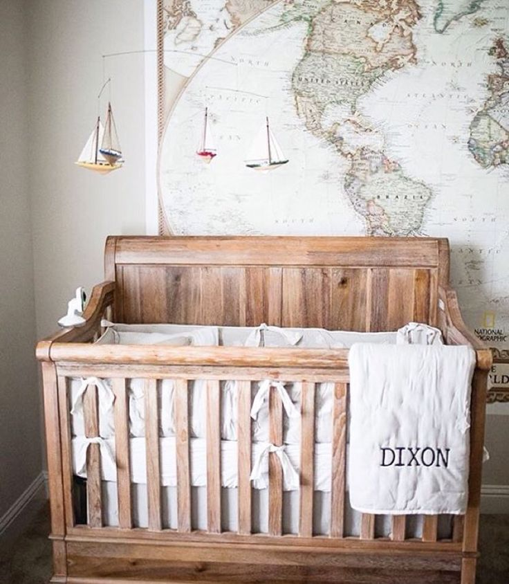 This top Pinned gender-neutral nursery is adventure themed.