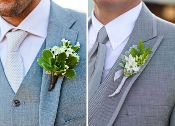 Flowera For Men At A Wedding