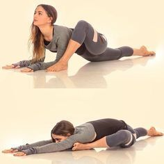 Deep hip stretches...good for splits and over splits!