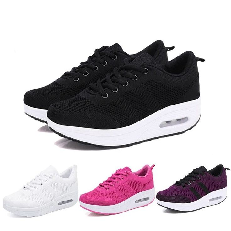 Chic Women Wedge Sneakers Light Ventilate Wedges Comfortable Platform Trainers