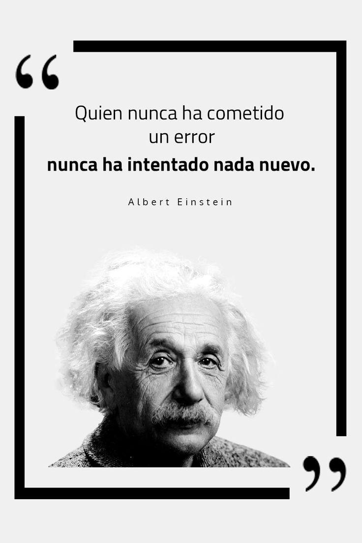 Conoce 10 frases celebres de albert einstein, frases de uno de los mayores genios de la historia... Einstein, Shorts, Words Quotes, Powerful Quotes, Motivational Quotes, Sentimental Quotes, Thoughts, Edible Plants, Good Day Quotes