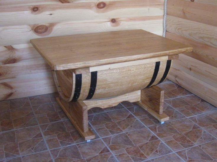 Бочка-стол, стол из дубовой бочки, мебель из бочек, мебель для интерьера в баню - Бондарный мир, ЧП Житомир (Украина) 3500 uah