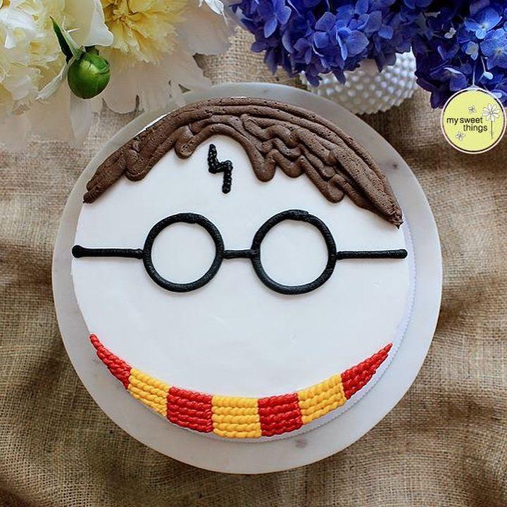 Harry Potter Buttercream Cake From Kathi Dangler My Sweet Things