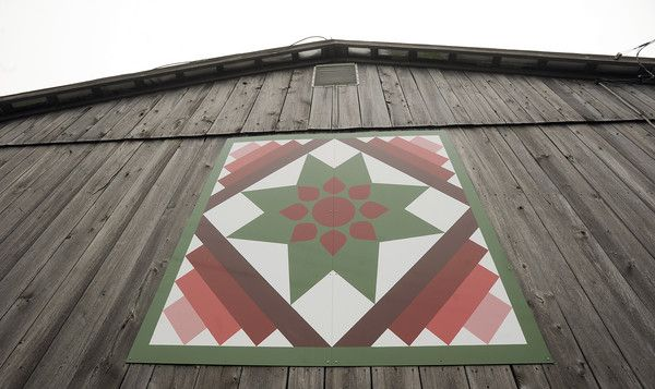 'Amish Dahlia' in Grantsville, Md: Quilts Patterns, Quilts Barns, Barns Fun, Barns Crazy, Barn Quilts, Quilts Trails, Barns Quilts, Children'S Children, Amish Patterns