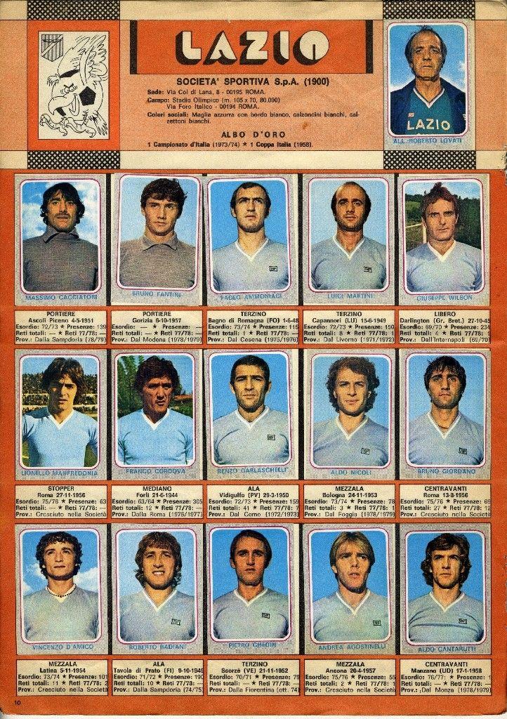 LAZIO 1978-1979 | Loghi sportivi, Sport, Calciatori