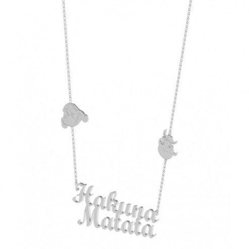 Disney Couture Platinum Plated Lion King Hakuna Matata Necklace