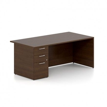 Lacasse Concept 300 Executive Desk With Single BBF Pedestal   Online Office  Furniture Store In Canada