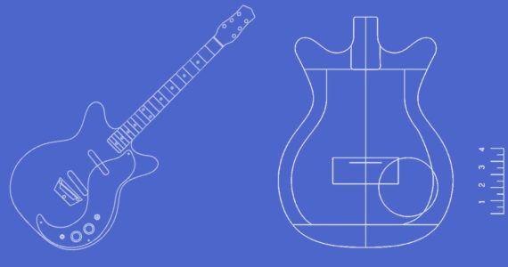 Danelectro Double Cutaway 59 Guitar Templates Electric Herald In 2020 Guitar Build Your Own Guitar Cool Electric Guitars