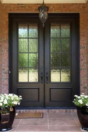 Iron And Glass Front Door