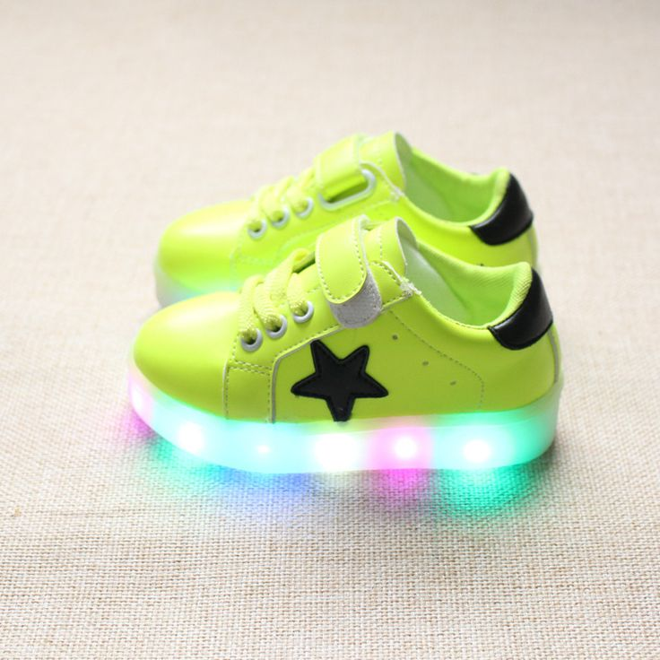 2017 spring and autumn new cartoon kitten LED flashing lights shoes boys and girls loafers for kids princess shoes kids children
