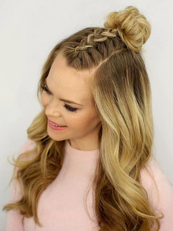 Trendiest Braided Hairstyles 2016: Mohawk Braid Top Knot  #braids #hair #braidedhair