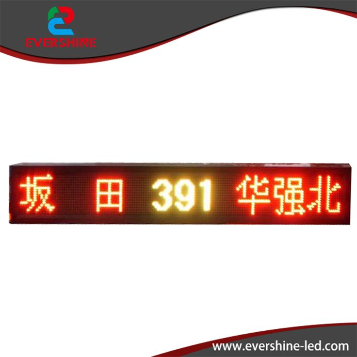 ==> [Free Shipping] Buy Best P10 H39 cm x W135cm 15inch x53inch Popular Electronic LED writing Board Bus Router LED Message Panel Support Customized Size Online with LOWEST Price | 393238465