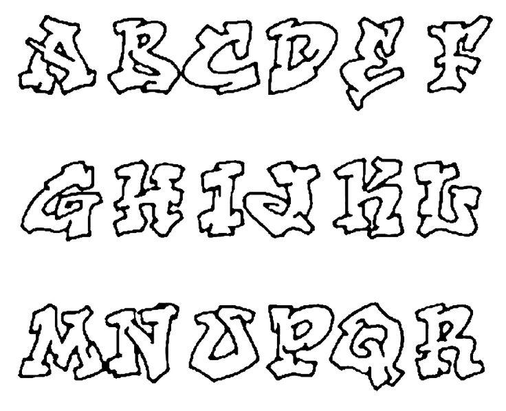 Graffiti Alfabet kleurplaten