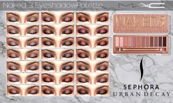 MAC cosimetics: Naked 3 Eyeshadow • Sims 4 Downloads