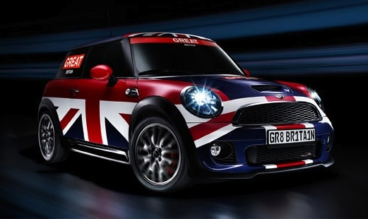 This MINI is waving the flag for its spiritual homeland, Great Britain.