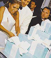 Toni Braxton's Wedding Cake