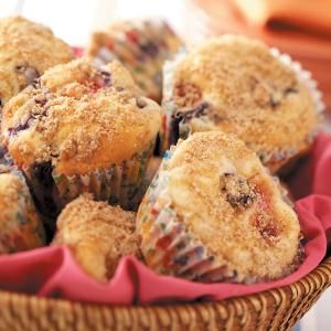 Berry Cheesecake Muffins Recipe from Taste of Home