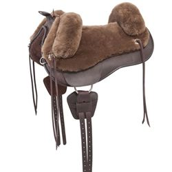 The Barefoot Saddlery Lazy Mountain Western Treeless Saddle was developed after listening to rider's feedback, who wanted a sheepskin saddle that would not cause problems for the horse's back while still providing the unbeatable comfort of a genuine..