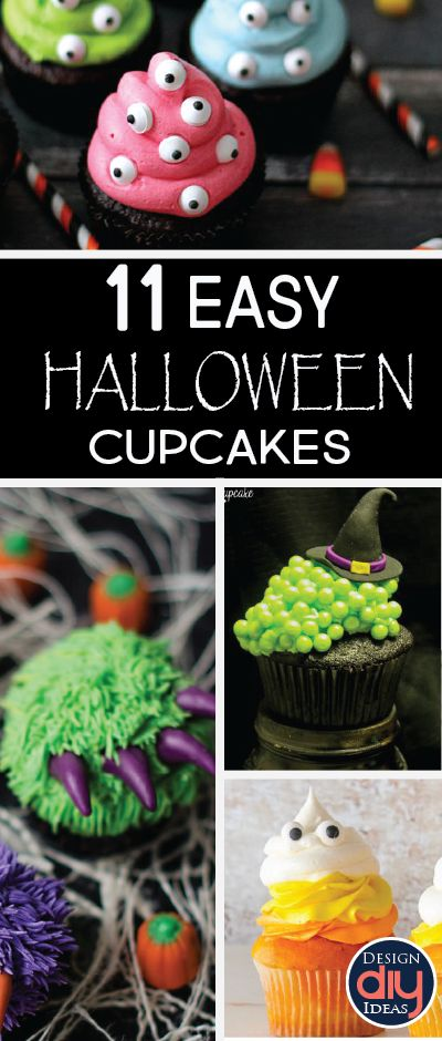 With so many classroom parties and neighborhood get togethers we always need some go to treat ideas. Here are 9 easy and quick Halloween cupcake ideas!