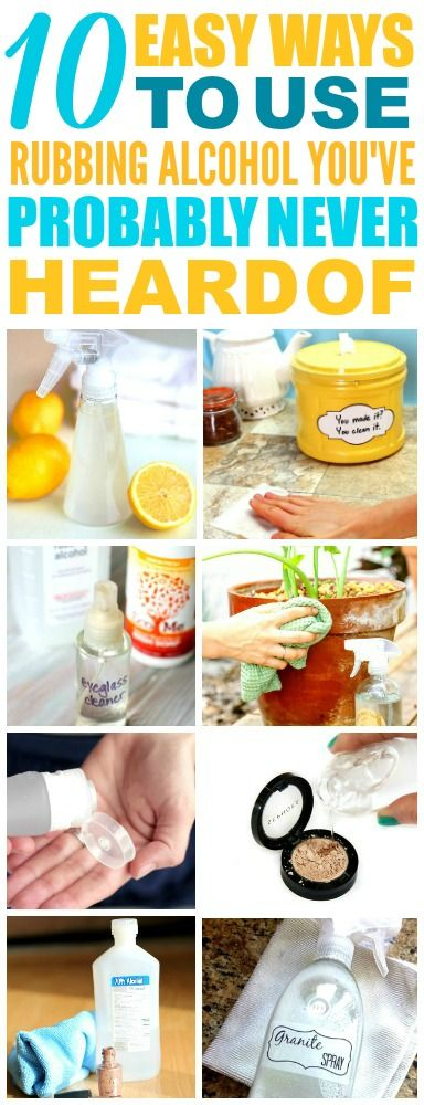 These 10 Easy Rubbing Alcohol Cleaning Hacks are THE BEST! I'm so happy I found these AMAZING tips! Now I have great ways to clean my home that are non-toxic, green, and super easy! Definitely pinning!