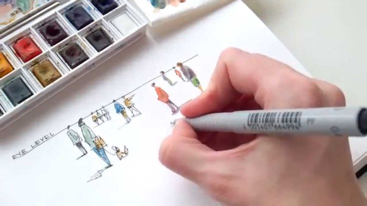 Drawing in progress: How to sketch people