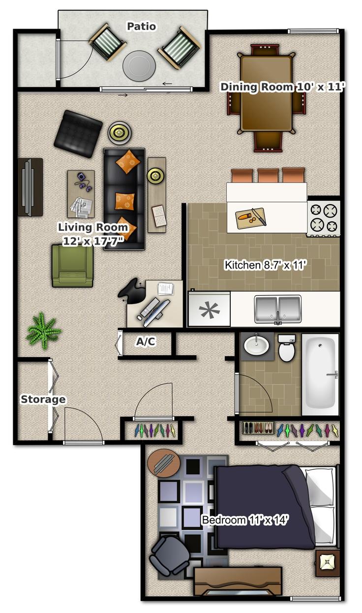 1 zimmer wohnungen kleinem raum grundrisse haus pläne layout fußböden architektur tiny houses homes