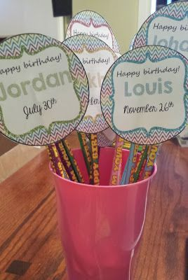 MissKinBK: A Fifth Grade Blog Birthday Pencil Topper Freebie!!