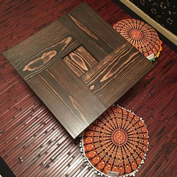 Gorgeous Chabudai Tea Dining Table With Recessed Center 3 Etsy