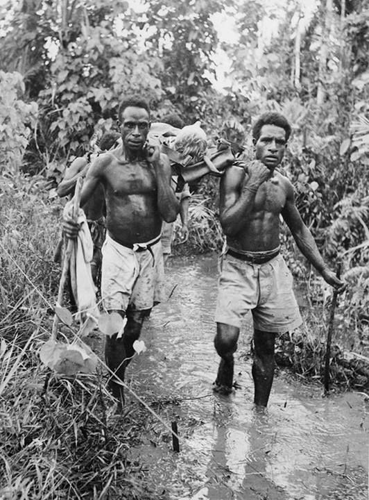The 'Fuzzy Wuzzy Angels' - Papua New Guinea World War Two carriers along the infamous Kokoda Track.