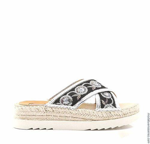 Sandalias 2018. Moda en calzado femenino primavera verano 2018. Sandalias, zapatos, zapatillas, chatitas y ojotas Lady Stork 2018.