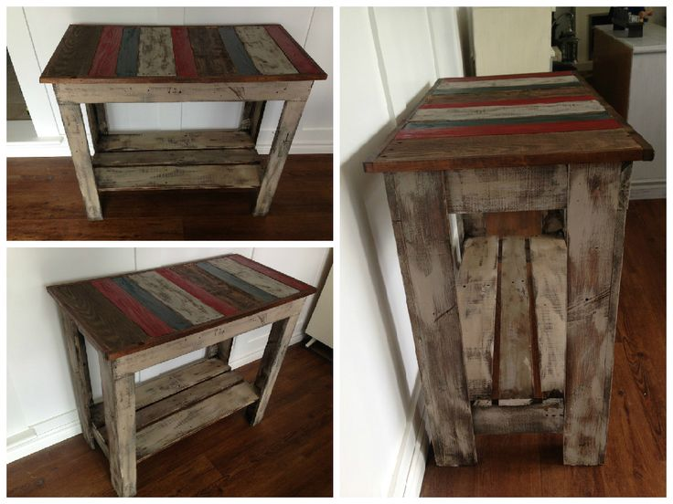 Built This Kitchen Island From Repurposed Elongated Wooden Pallets Painted With Chalk Paint And Stained