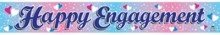 Happy Engagement Foil Banner - Mr Party Cheap Party Supplies Discount Party Products Birthdays Parties Party Hire